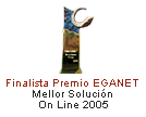 Finalist Best OnLine Solution 2005